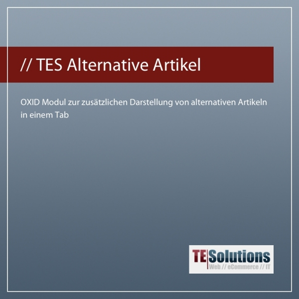 OXID Modul Alternative Artikel für OXID eShop 4.7
