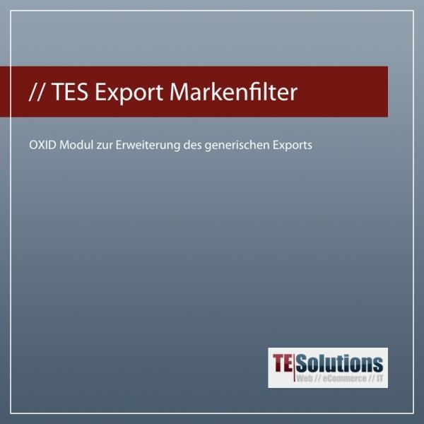 OXID Modul Markenfilter für den generischen Export für OXID eShop 4.6