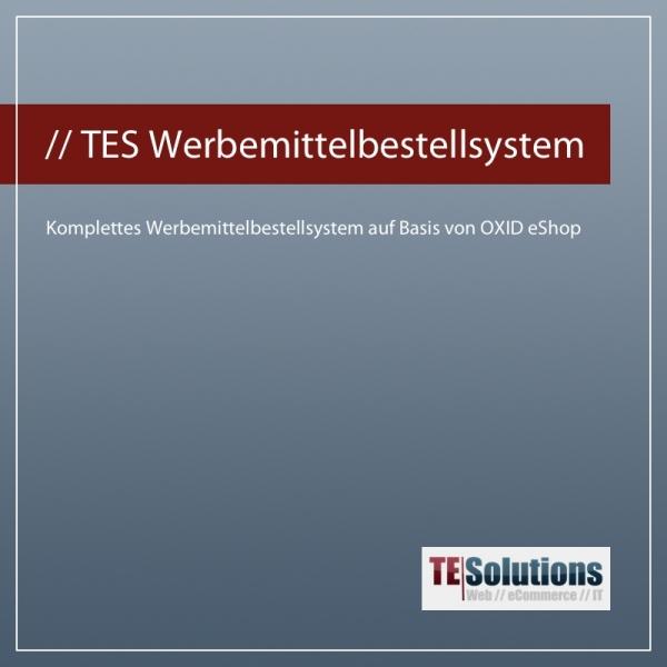 Werbemittelbestellsystem auf Basis von OXID eShop