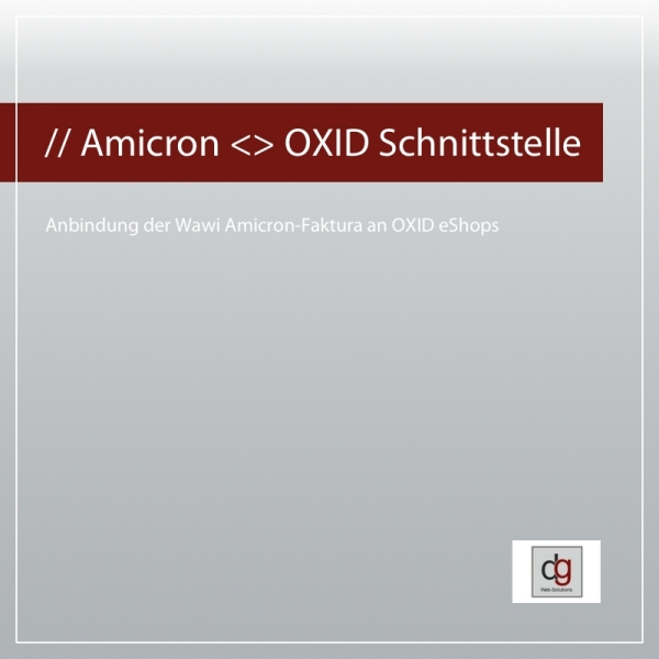 Amicron Shopschnittstelle für OXID eShop