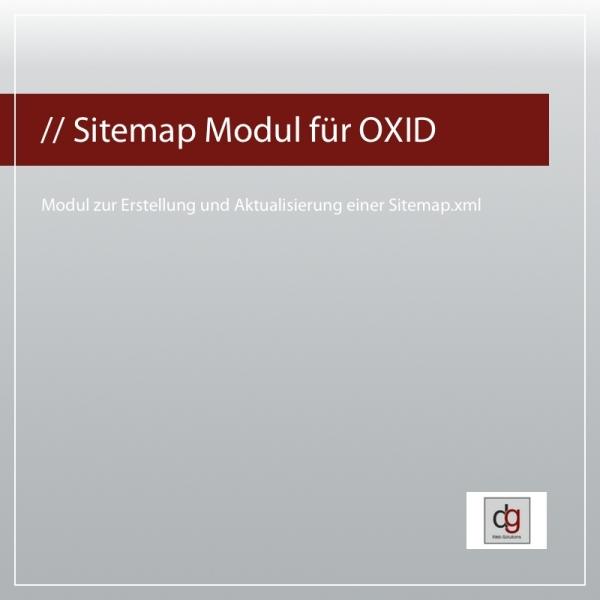 Sitemap Modul für OXID eShop