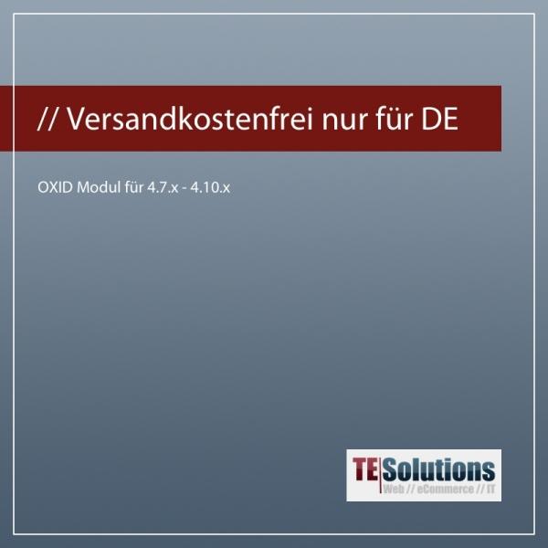 OXID Modul Versandkostenfreie Artikel nur für DE